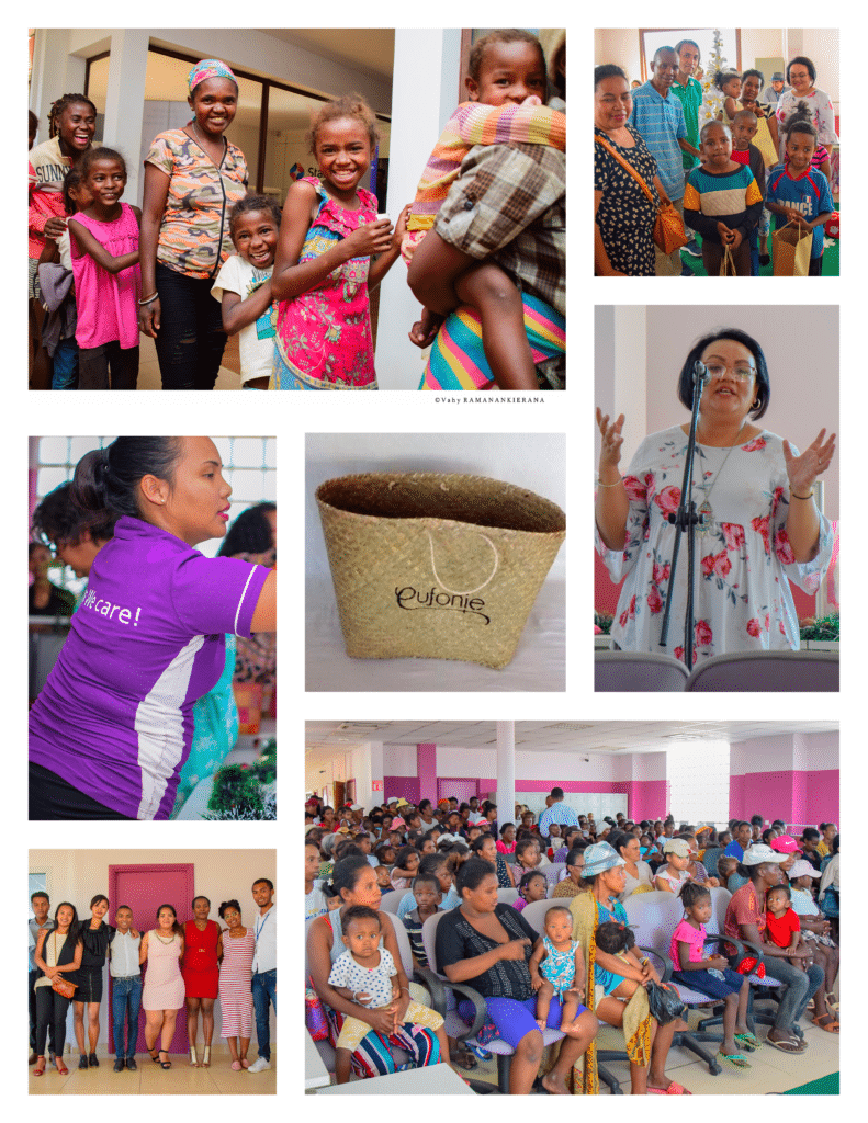 Distribution de cadeaux pour les enfants défavorisés à l'occasion de GivingTuesday 2019, par la Team Eufonie